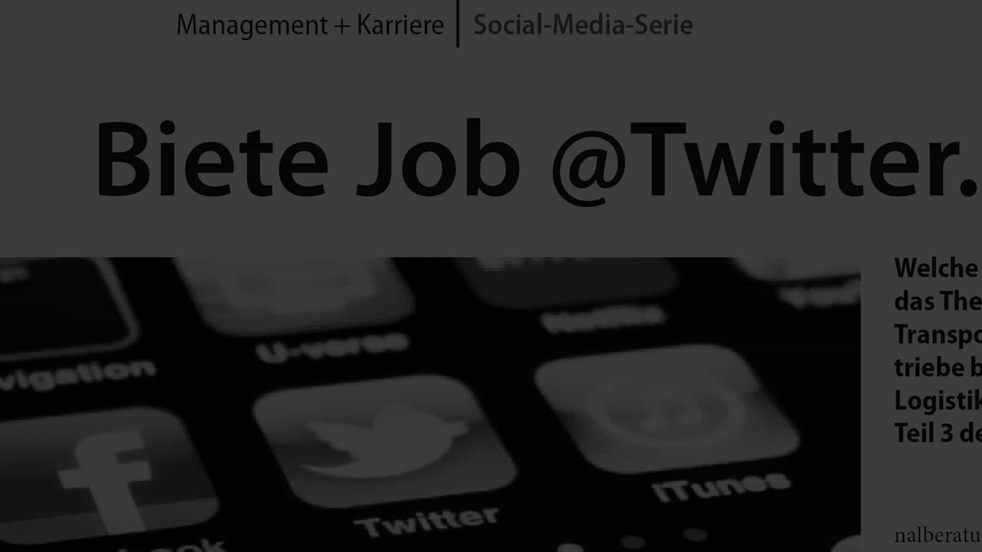 Artikel Biete Job at Twitter
